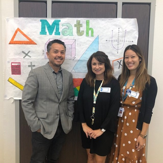 Our math department is wonderful with our students!